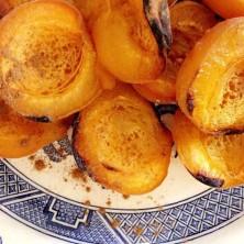 Charred Apricots