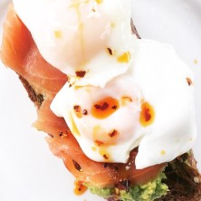 Avocado smoked salmon and poached eggs