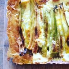 Leek and ricotta tart